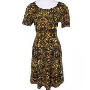 Lularoe Casual A-Line Amelia Short Sleeve Dress